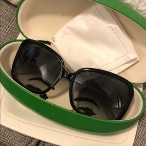 Kate Spade Black Sunglasses Women's Size with Case